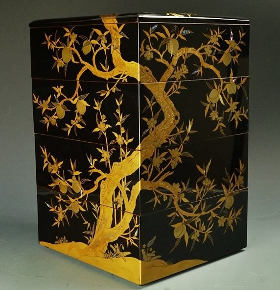 14japanese gold lacquer makie