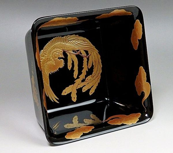 166japanese gold lacquer makie