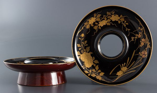 86japanese gold lacquer makie