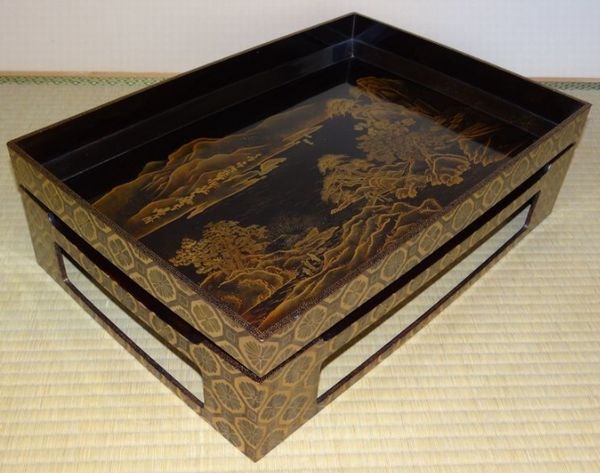 62japanese gold lacquer makie