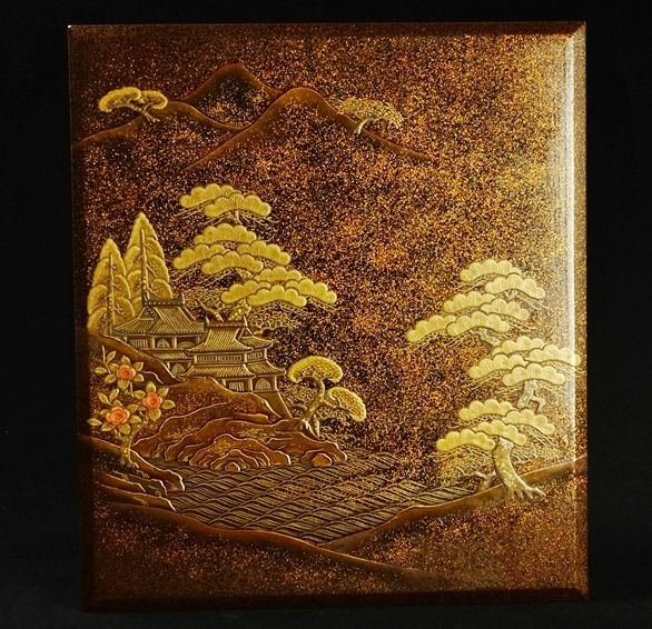 73japanese gold lacquer makie