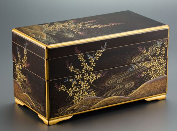 129japanese gold lacquer makie