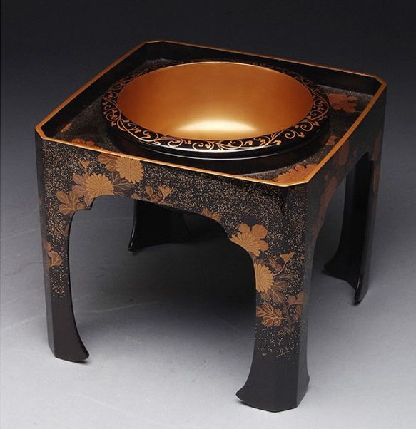157japanese gold lacquer makie