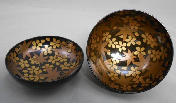 104japanese gold lacquer makie