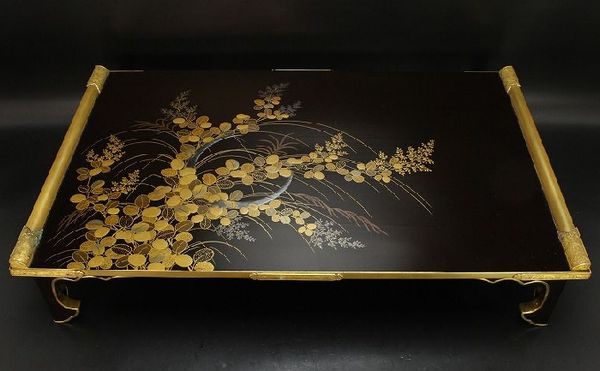 124japanese gold lacquer makie
