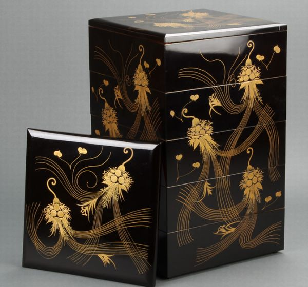 116japanese gold lacquer makie