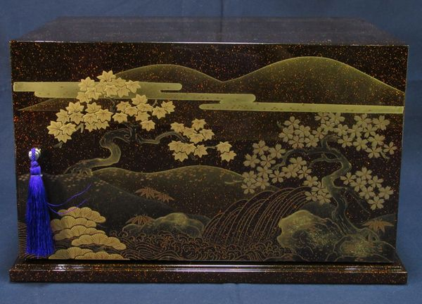 142japanese gold lacquer makie