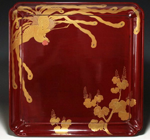 118japanese gold lacquer makie