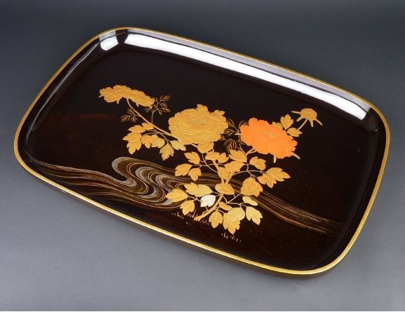 122japanese gold lacquer makie