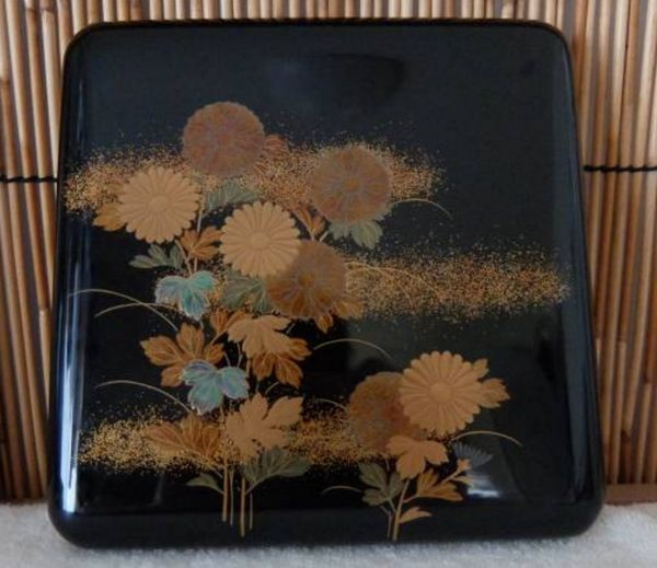 106japanese gold lacquer makie