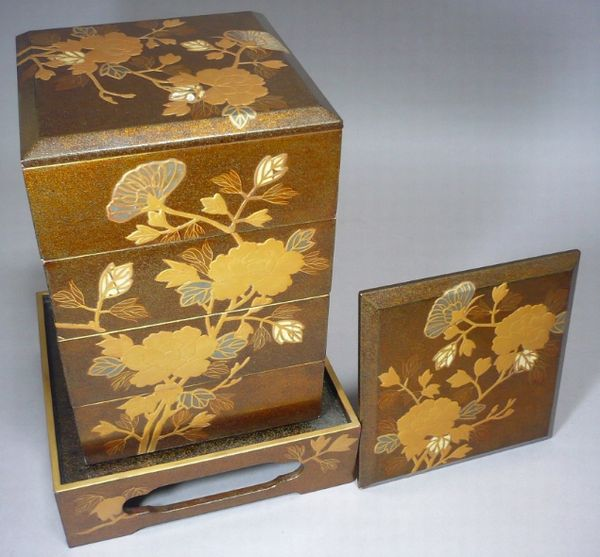 121japanese gold lacquer makie