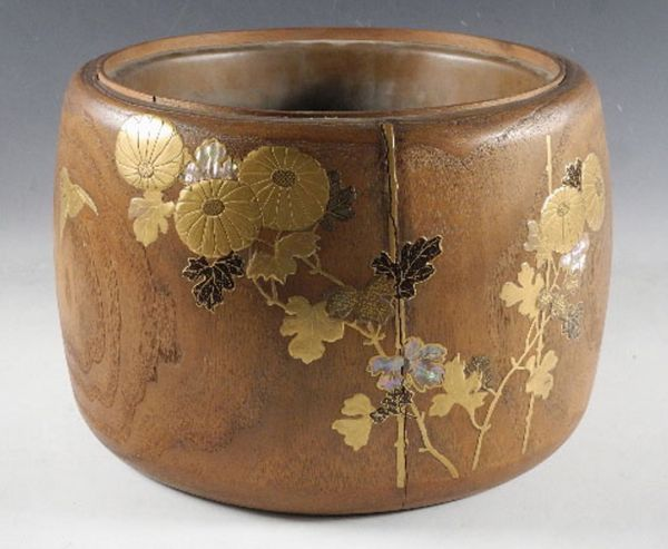 107japanese gold lacquer makie