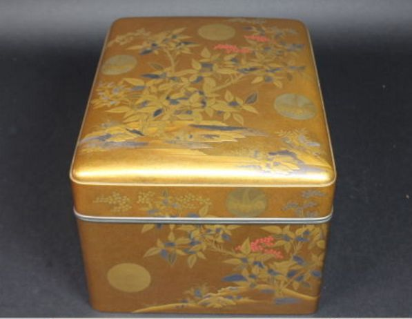 3japanese gold lacquer makie