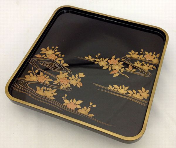 57japanese gold lacquer makie