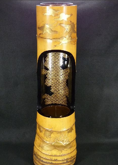 77japanese gold lacquer makie