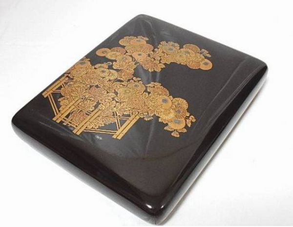 78japanese gold lacquer makie