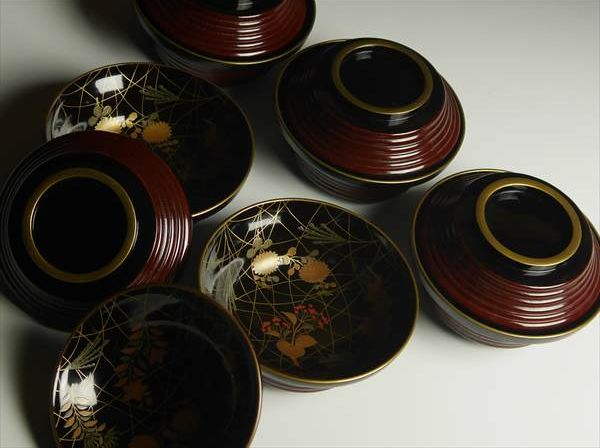 89japanese gold lacquer makie