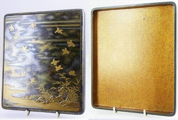 80japanese gold lacquer makie