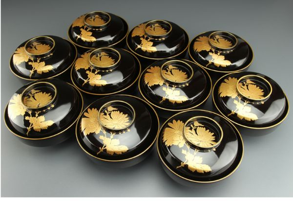 130japanese gold lacquer makie