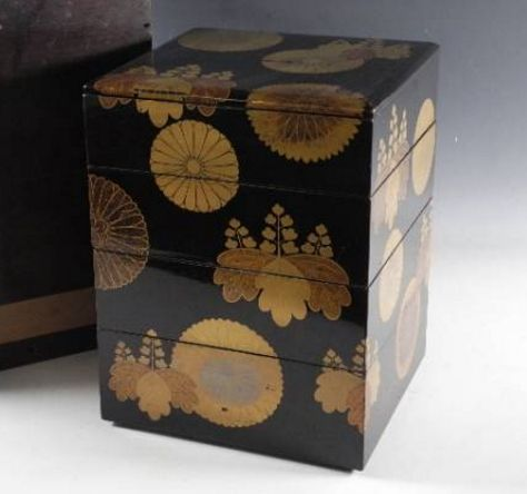 108japanese gold lacquer makie