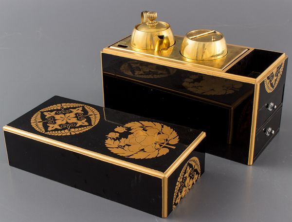 38japanese gold lacquer makie